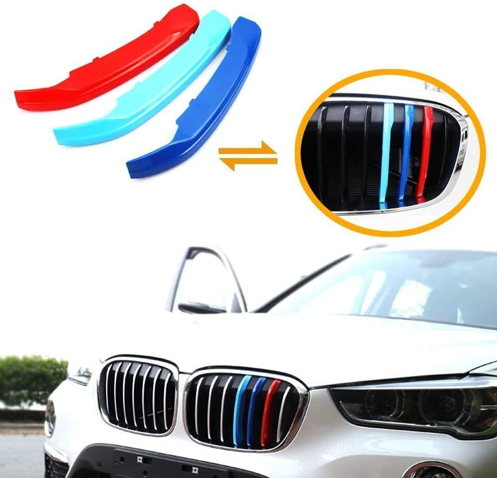 M-Color ABS Grill Stripe Inserts Kidney Grilles for F48 X1 SUV 8 Beams 16-17