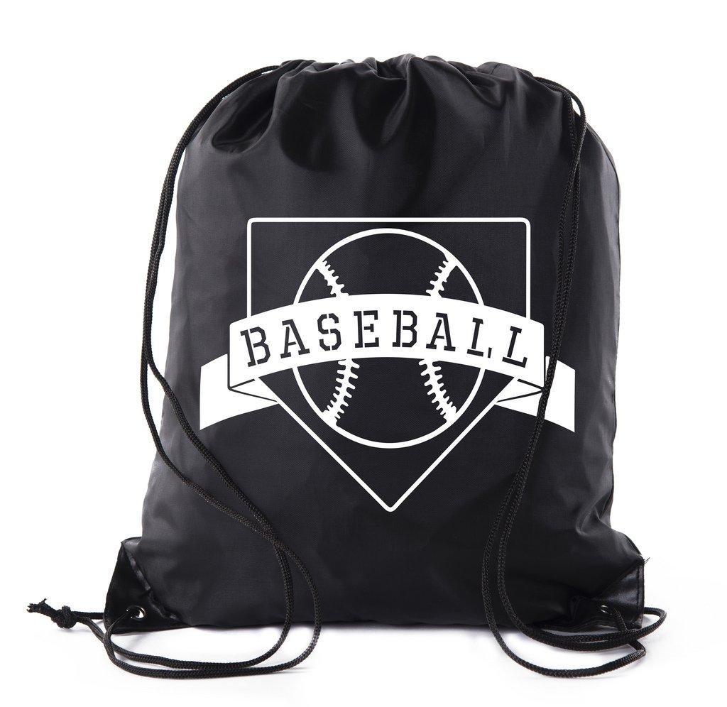 Mato & Hash Boys Drawstring Backpack Baseball Bags 1-10 Pack Bulk Options - 10PK Black CA2500Baseball S5