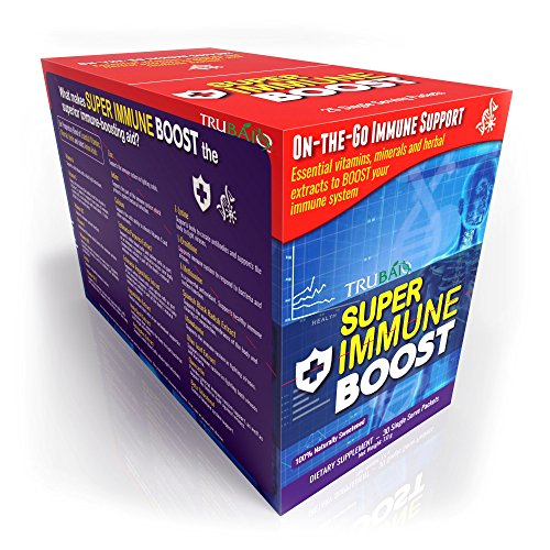 Super Immune Boost Packets 30 Day Supply, Immune System Booster w/Vitamins, Minerals, Herbs, Amino Acids and Select Nutrients for superior Medicinal Support