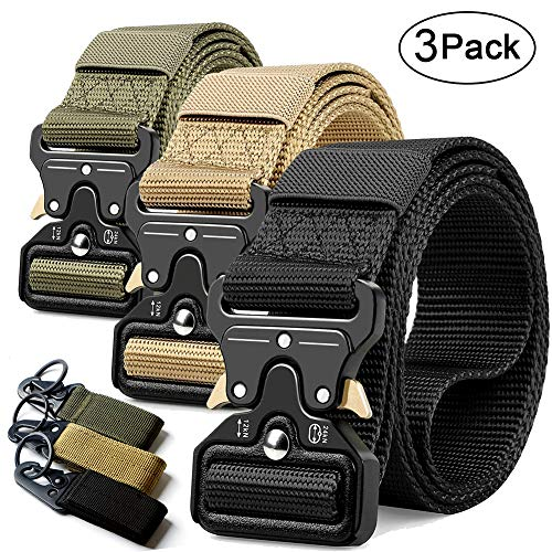 RONGQI 2Pack Tactical Belt,Military Style Quick Release Belt,1.5