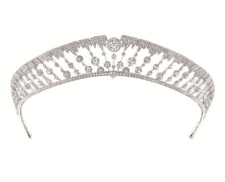 Wiipu Diana Crown Crystal and Pearl for Bridal Hair Accessories and Bridal Tiara Princess Headband(A1177)
