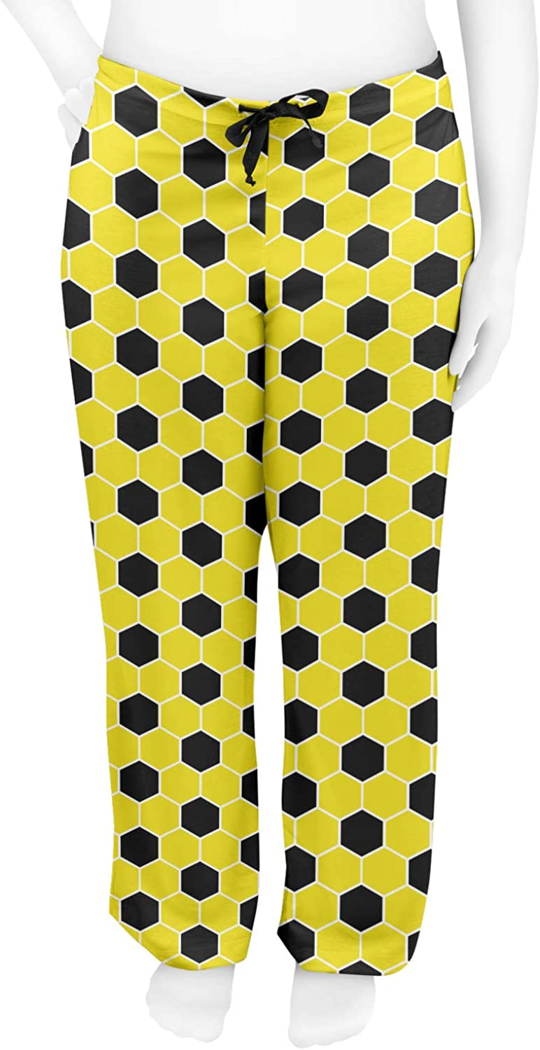 Yellow Personalized M RNK Shops Honeycomb Womens Pajama Pants