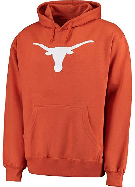 289c Texas Longhorns Mens Tx. Orange Silhouette Synthetic Poly Hoodie Sweatshirt (2X)