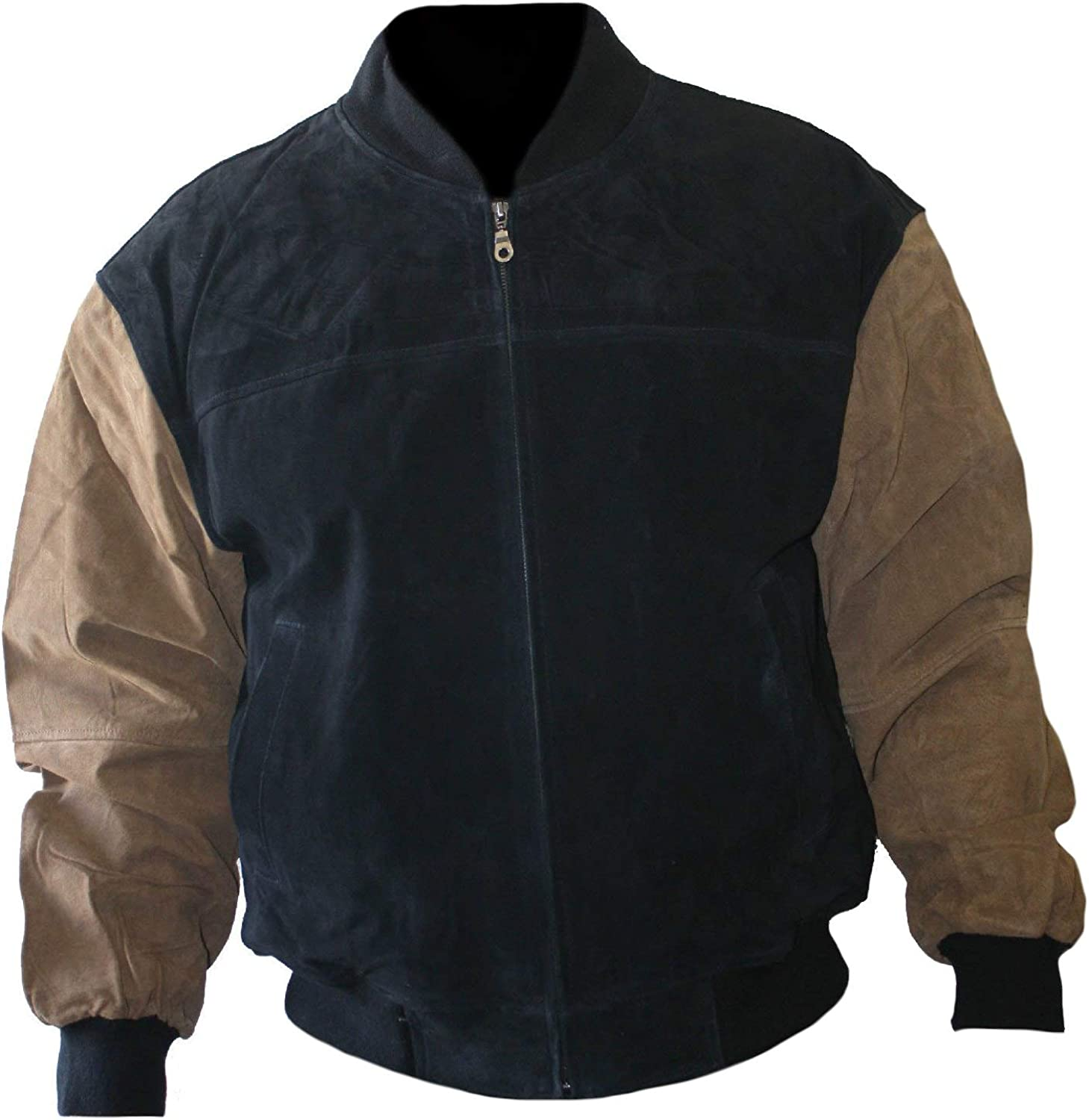 Stormwise Mens Fashion Bomber Style Black /& Brown Jacket