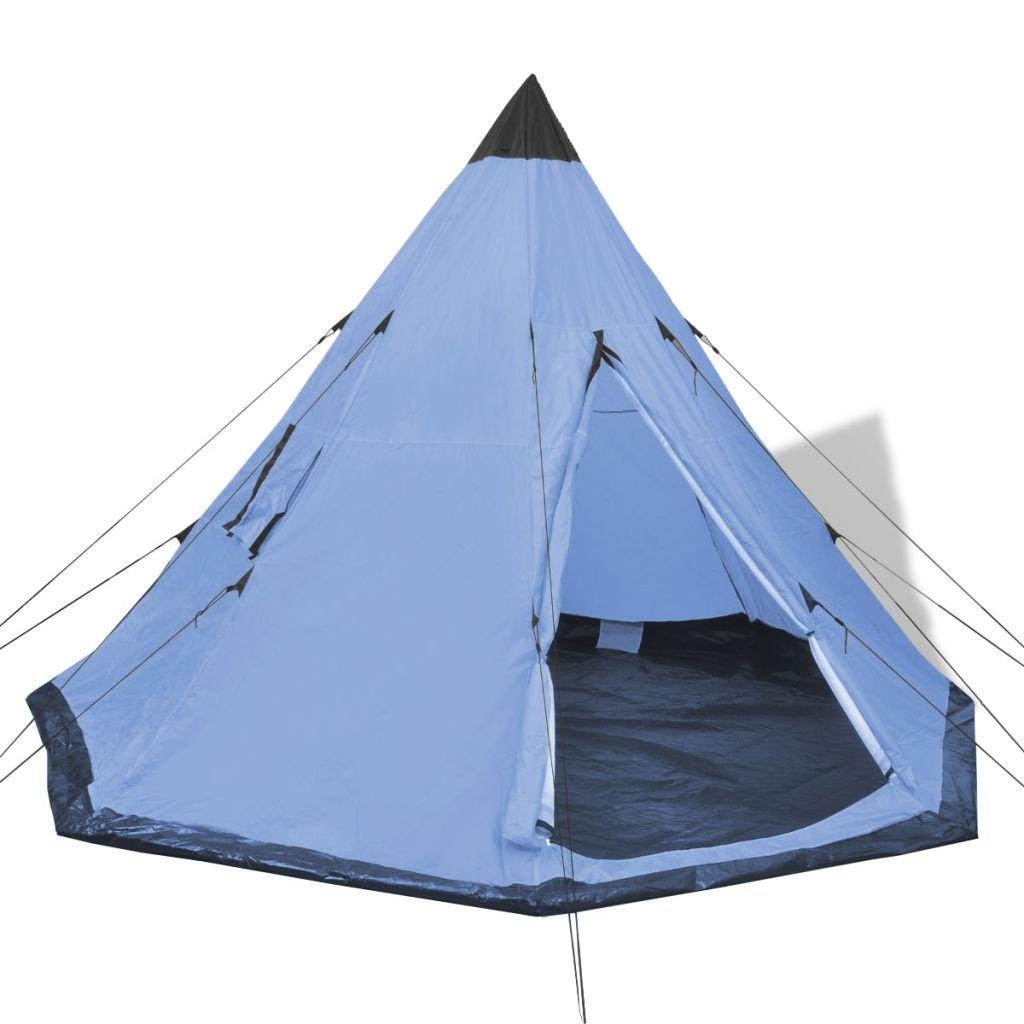 vidaXL/ /Camping senderismo tienda de campa/ña 2/Windows impermeable viaje familiar color azul//verde//amarillo