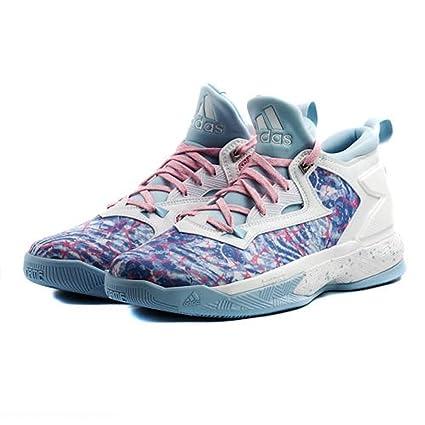 reputable site e8503 2b41c Adidas Damian Lillard 2.0 Sneaker Uomo, AQ7434, Footwear WhitePink GlowIce