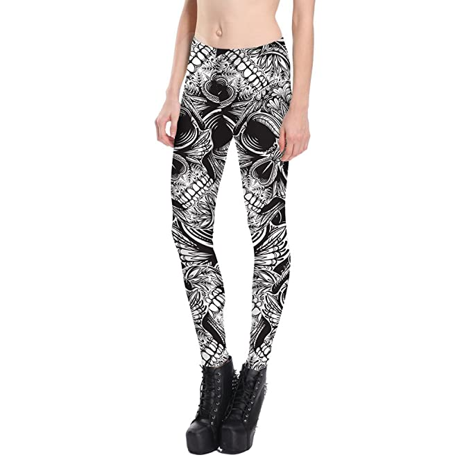 5b4f7d6f7c11e2 Image Unavailable. Image not available for. Color: KALLY Digital Printed  Women¡¯s Full-Length Yoga Workout Leggings Thin Capris Pants