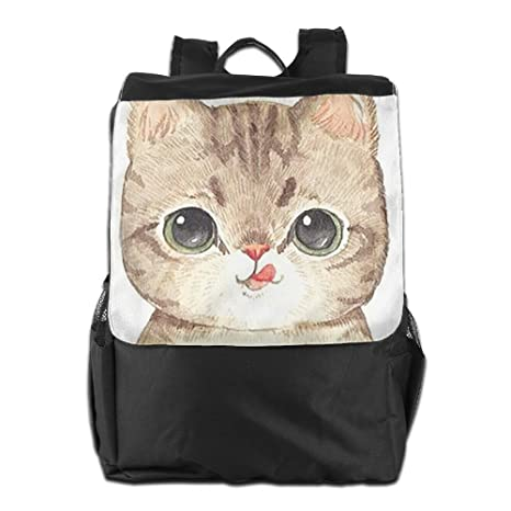 367ee12bc838 Image Unavailable. Image not available for. Color  Lightweight Outdoor  Daypack Durable Cute Cat Travel Hiking Backpack