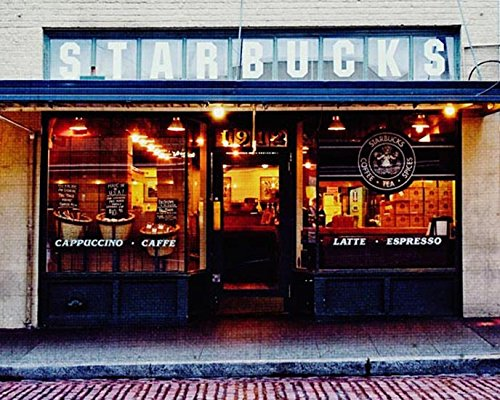 Seattle Photography Original Starbucks photo Urban - Seattle Downtown Shops