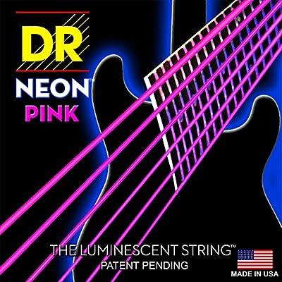DR Strings NPE-10 Coated Nickel Hi-Def Pink Electric Guitar Strings, Medium