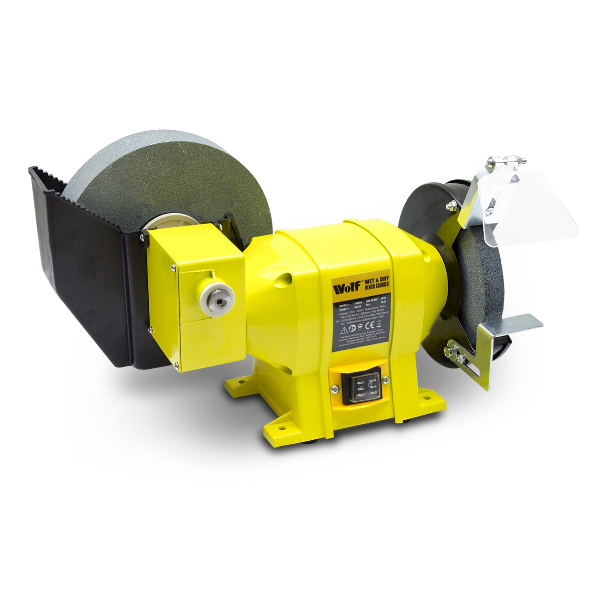 Wolf 250w 8' Wet and 6' Dry Dual Stone Bench Grinder
