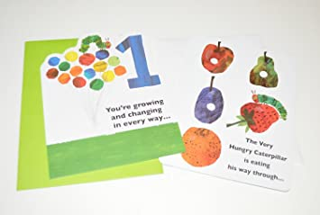Amazon the very hungry caterpillar first birthday card pack the very hungry caterpillar first birthday card pack of 2 bookmarktalkfo Image collections