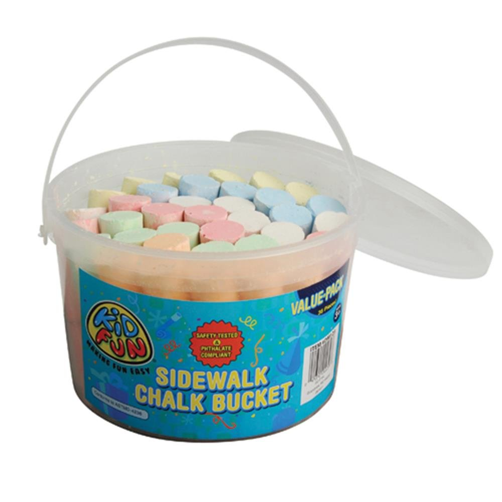 Constructive Playthings Sidewalk Chalk Bucket/36-Tb StealStreet (Home) SS-UST-DM123