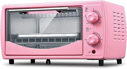 Horno Sobremesa Grande,Mini Horno eléctrico con convección,Horno-Grill Eléctrico Mini,Tiempo De RotacióN De 30 Minutos,Control De Temperatura Giratorio De Cinco Velocidades Pink: Amazon.es: Hogar