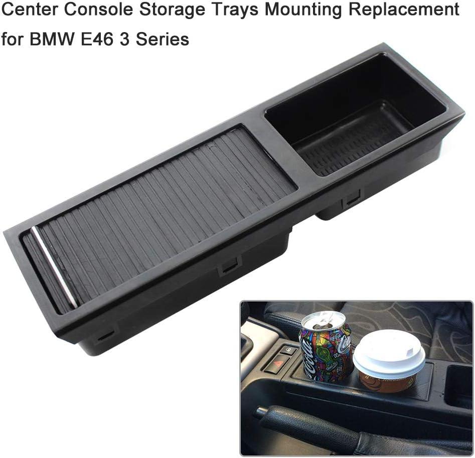 Gecheer Getr/änkehalter Mittelkonsole Car Front Center Konsole Drink Cup Halter Kompatibel mit BMW E46 3er