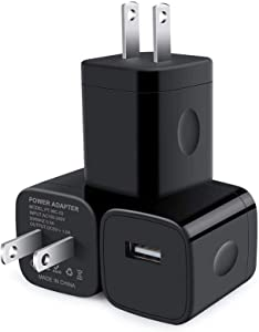 USB Wall Charger, Charger Block, CableLovers 3-Pack One Port Wall Charger Box Cube Brick USB Plug Power Adapter for iPhone 11/Xs/XR/X/8/7/6 Plus, Samsung GalaxyS10 S10e S9 S8, Moto, LG, Nexus, Android
