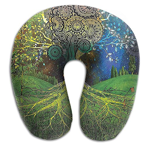 New Tree In The Valley With Spiral Branch Balance In Mother Earth Comfort Neck U Pillow,Memory Foam Pillow Relief And Support For Travel, Home, Neck - Earth Mother Pillows