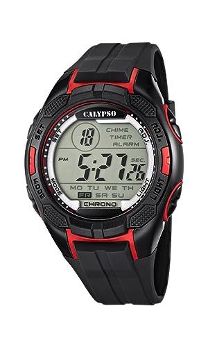 Calypso watches K5627/3 - Reloj de pulsera hombre, plástico, color negro: Calypso: Amazon.es: Relojes