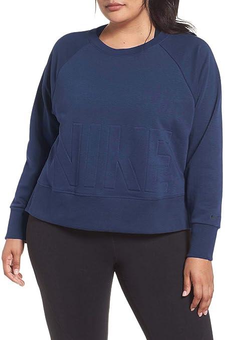 2438b17298238 Amazon.com  NIKE Women s Plus Size Versa Dri-FIT Crew Pullover ...