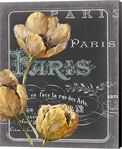 Chalkboard Paris II by Studio W Canvas Art Wall Picture