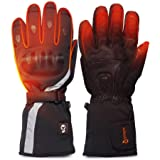 Winter Warm Gloves 3 Settings Temperature Controller Black Size S-2XL Type 2, M J JINPEI Heated Gloves Motorcycle Ski Liners for Men and Women with Rechargeable Li-ion Battery