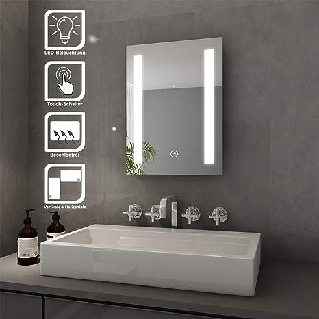 LED Badspiegel mit energiesparender LED-Beleuchtung Spiegel kaltweiß IP44 50x70