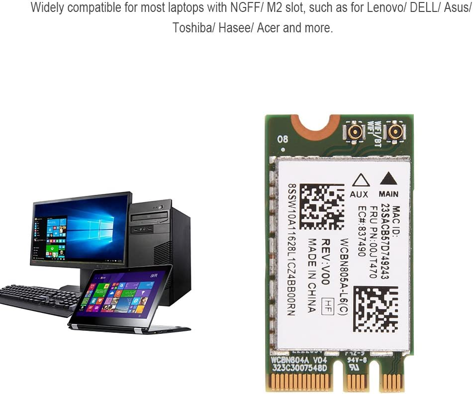 fosa WiFi Card Wide Compatibility 2.4G// 5G Dual-Band Mini WiFi Wireless NGFF// M2 Card for Lenovo//DELL//Asus