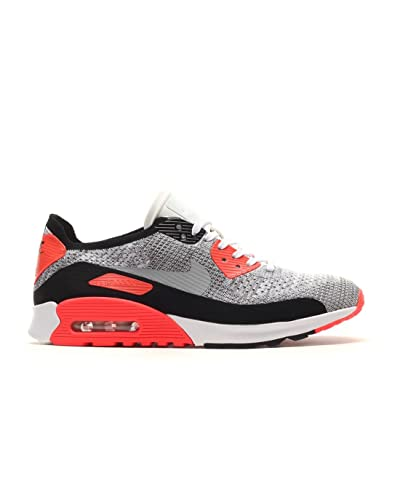 timeless design e5284 f3cae Amazon.com | NIKE Women's W Air Max 90 Ultra 2.0 Flyknit, White-Wolf ...