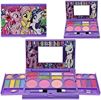 Townley Girl My Little Pony Cosmetic Compact Set with Mirror 22 Lip glosses, 4 Body Shines, 6 Brushes Colorful Portable...