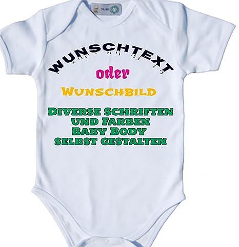 Baby Body bio Body Suit corta para personalizada nombre personalizado deseos de personalizable Impresión Imprimir Pelele