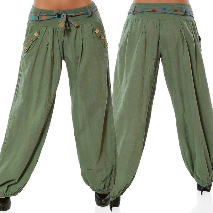 Amazon.com: Pantalones de piernas anchas Boho para mujer ...