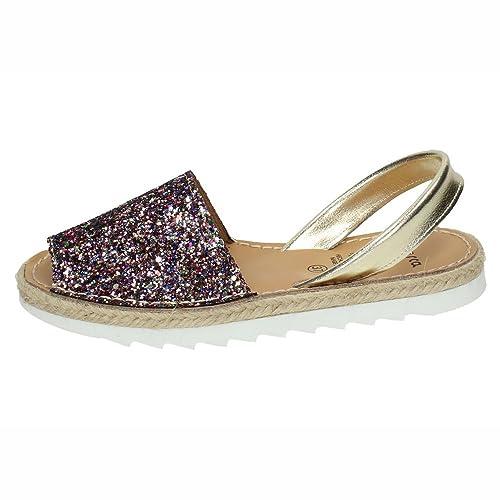 690eb91a MADE IN SPAIN 6275 Menorquina Multi Mujer Sandalias: Amazon.es: Zapatos y  complementos
