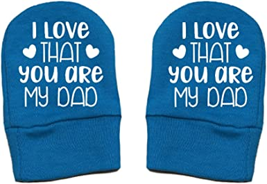 Thick /& Soft Baby Mittens Thick Premium Daddy Gift Fathers Day Mashed Clothing I Love That You Are My Dad