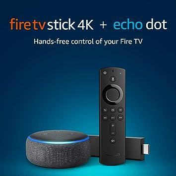 Fire TV Stick 4K bundle with Echo Dot (3rd Gen)