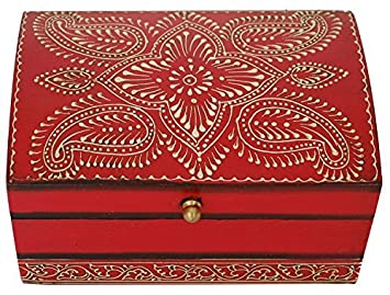 Amazoncom 12 DAYS of DEALS Red Treasure Chest Box Keepsake and