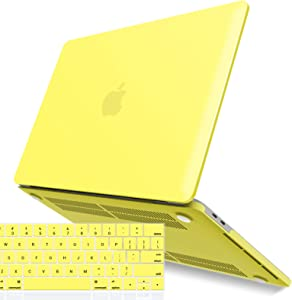 IBENZER MacBook Pro 13 Inch Case 2019 2018 2017 2016 A2159 A1989 A1706 A1708, Hard Shell Case with Keyboard Cover for Apple Mac Pro 13 Touch Bar, Yellow, T13YW+1