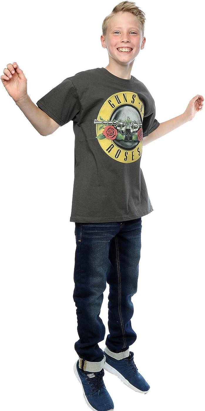 Guns N Roses Bambini e ragazzi Bullet Logo Maglietta 7-8 Years grafite Luce