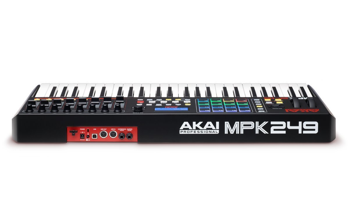Akai Professional Compact Keyboard Controller (49-Key) with 4-Port USB 2.0 Hub + MIDI Cable Pack of Cable ties & Cleaning Cloth by Akai (Image #7)