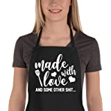 Saukore Funny Aprons for Women Men, Kitchen Chef Aprons with 2 Pockets for Cooking Baking, Cute Birthday Gifts for Mom Wife H