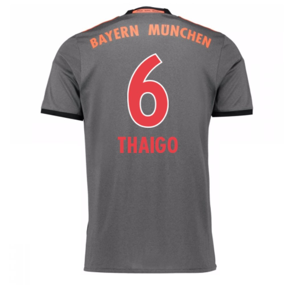2016-17 Bayern Munich Away Football Soccer T-Shirt Trikot (Thaigo Alcantara 6) - Kids