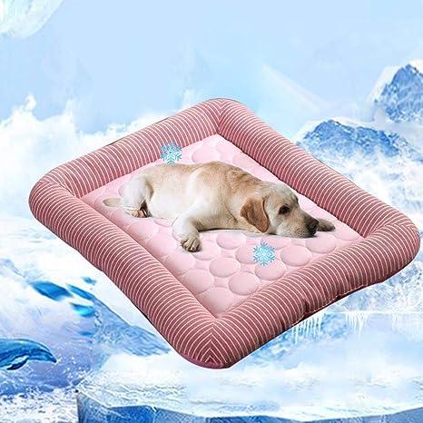 Almohadilla de gel para enfriamiento de mascotas, Almohadilla de enfriamiento para mascotas KOBWA, Estera de auto enfriamiento de mascotas, Cama de ...