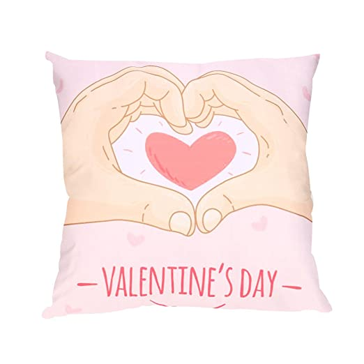 Funda de almohada Mome con diseño de corazones rojos ...