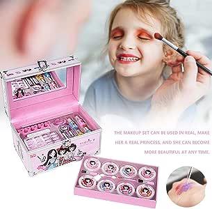 Kit de Maquillaje Niñas, Kit de maquillaje de juguete para niñas, lápiz labial, esmalte de uñas, sombra de ojos, regalo para niños, niños: Amazon.es: Bebé