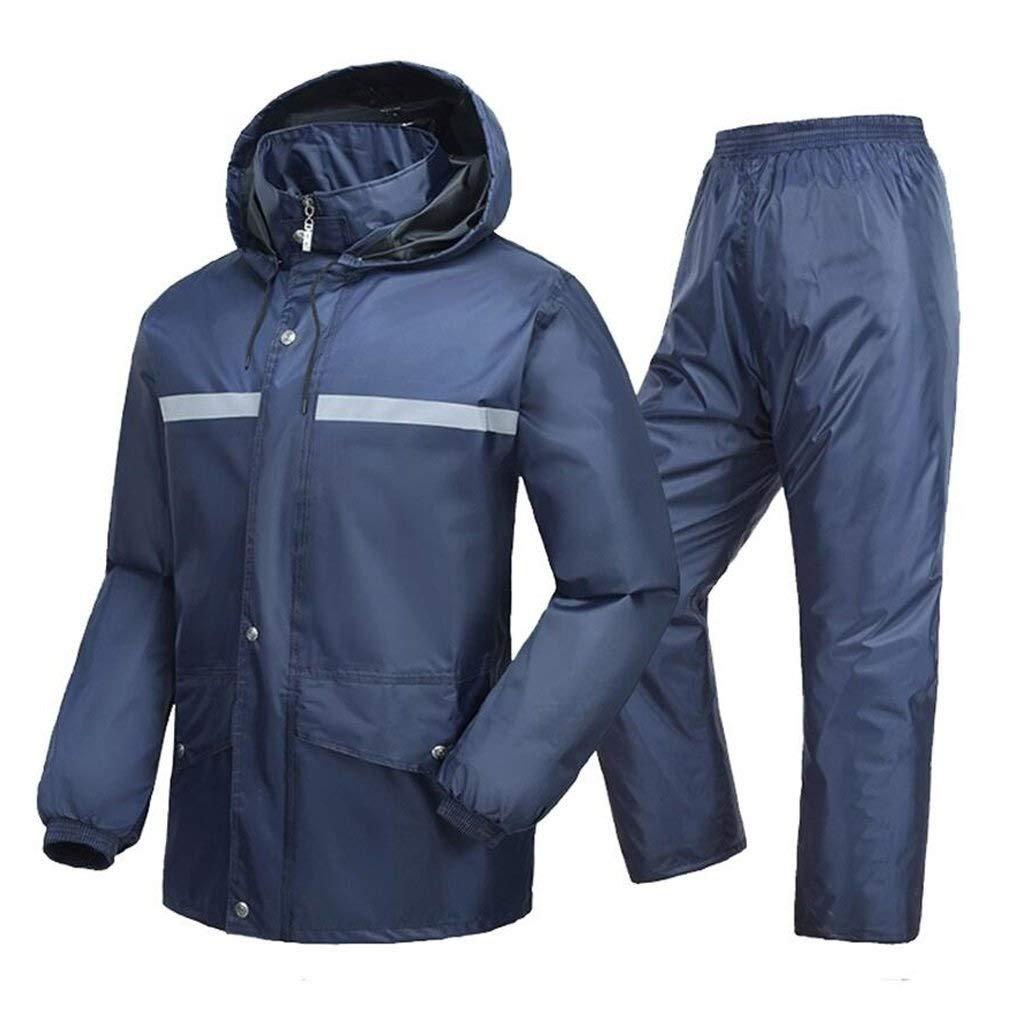 XXl Costume Unisexe (imperméable + pantalon de pluie), coupe-vent et anti-pluie   Split Design   Double épaississeHommest, assez for s'adapter aux intempéries, très approprié for les travaux ou activités en