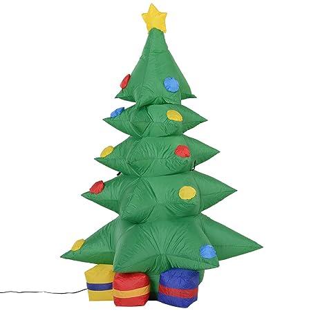 Homcom - Árbol de Navidad hinchable con paquetes de regalo ...