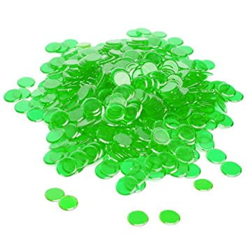 Brybelly Holdings GBIN-002 300 Pack Green Bingo Chips
