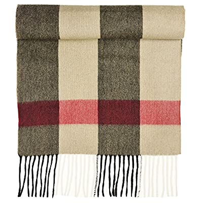 Candor and Class Pure Cashmere Winter Scarf, Solid Colors and Plaids, Mens Womens Unisex, Gift Box, Various Sizes