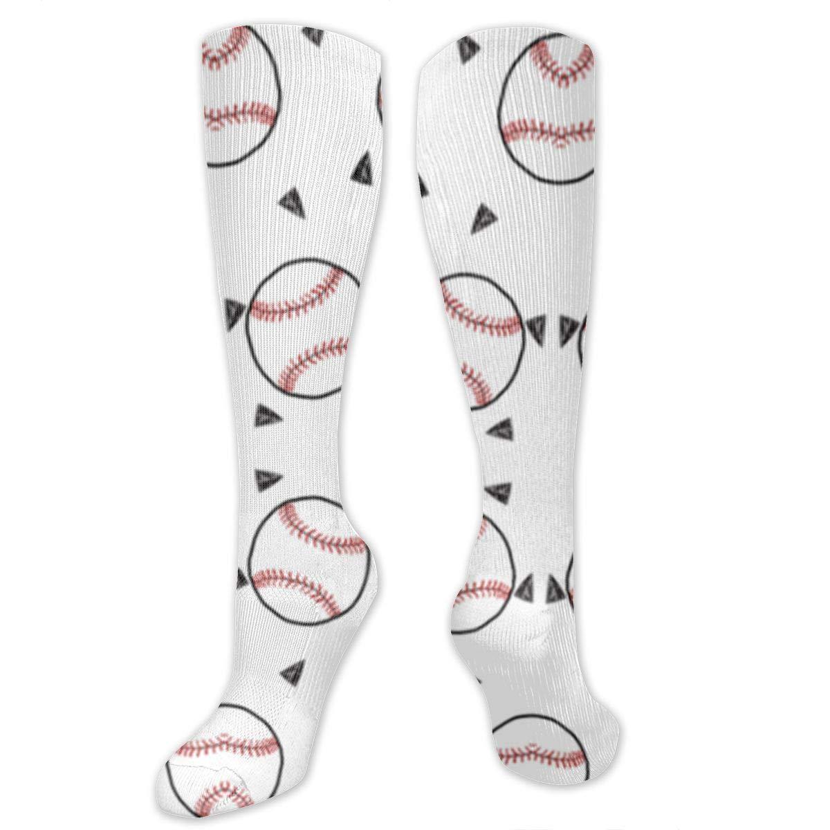 Men Multicolored Pattern Fashionable Fun Crew Cotton Socks Chanwazibibiliu Baseball Sports Baseball American Themed Mens Colorful Dress Socks Funky