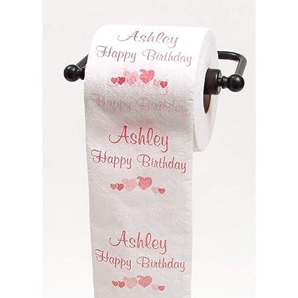 Amazon.com: JustPaperRoses Happy Birthday toilet paper - top 25 ...