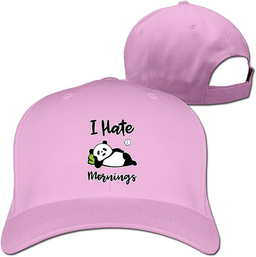 Unisex I Hate Mornings Panda Bear Dancing Baseball Cap Adjustable Hat for Outdoor /& Home